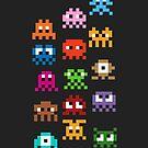 Pixel Art Monsters by jaredfin