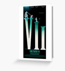 Final Fantasy VII: The Sacrifice Of Cloud POSTER Greeting Card