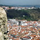 Looking down onto Nazare, Portugal by Bine