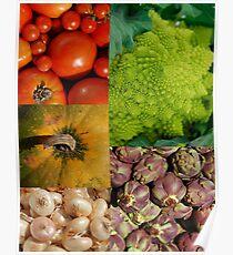Five Vegetables Poster