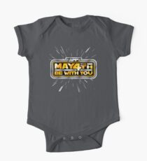Happy May the 4th! (Yellow/Stars) One Piece - Short Sleeve