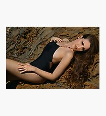Beauty shot of swimsuit model on location Photographic Print
