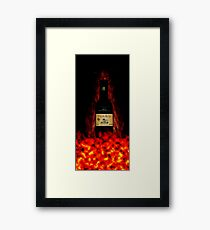 Born from fire Framed Print