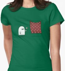 Friendly Ghost Womens Fitted T-Shirt