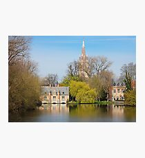 Minnewater in Bruges Belguim Photographic Print