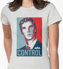 CONTROL PastelBlue/Red/DarkBlue Womens Fitted T-Shirt