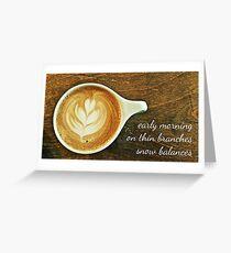 cappuccino haiga Greeting Card