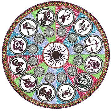 Zodiac Mandala by rkrishnappa