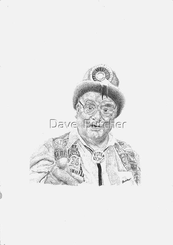 Howlin Lord Hope (Pen and Ink Drawing) by Dave  Butcher