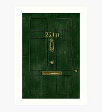 221B Door Art Print