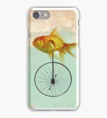 unicycle goldfish iPhone Case/Skin