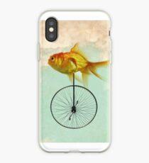unicycle goldfish iPhone Case
