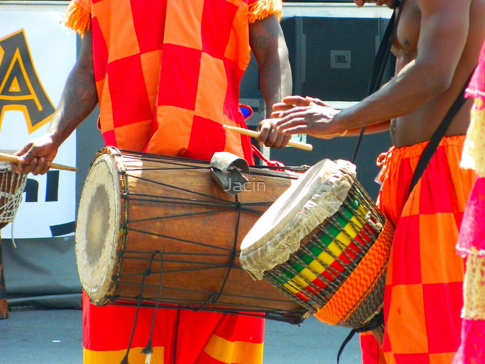 Drums at Umoja Festival 2011 Johnson City Tennessee by Jacin