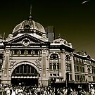 Flinders Street Station Melbourne by David Toolan
