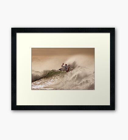 Sebastian Zietz - Rip Curl Pro, Bells Beach 2013 Framed Print