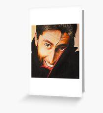 David Tennant Oil Painting Greeting Card