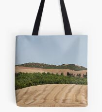 Brown Field and Trees Tote Bag