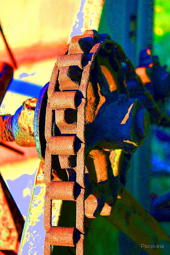 Farm Equipment Abstract Color  by Pacovina