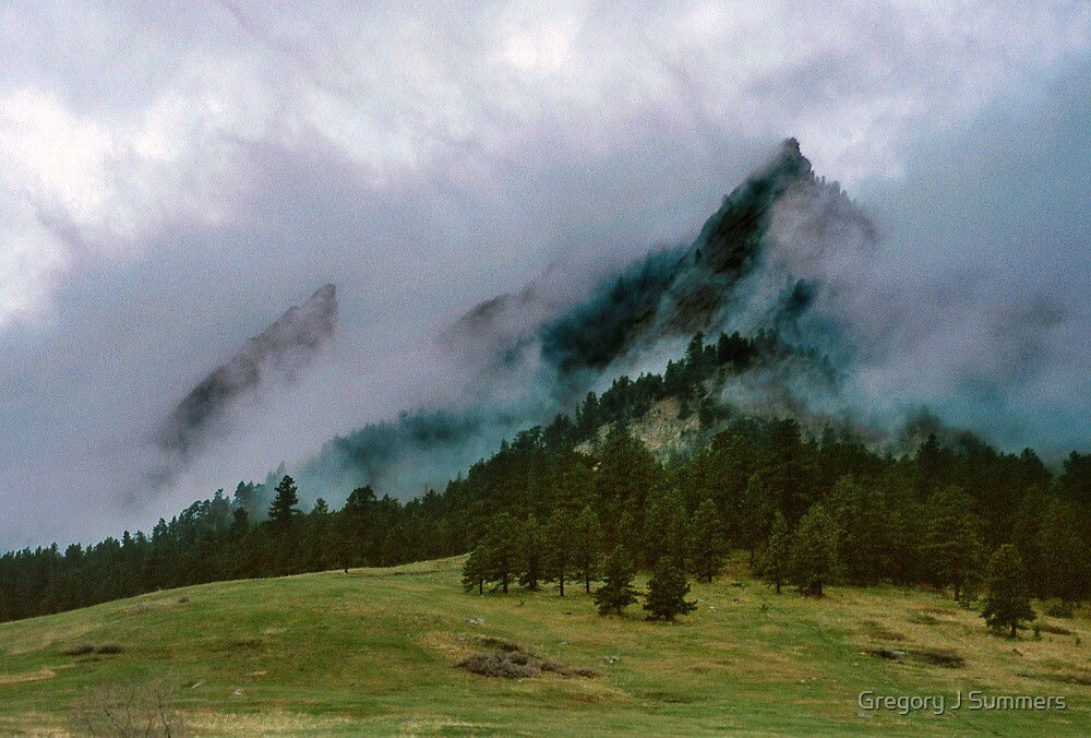 The Flatirons Cloaked In Mystery by Gregory J Summers