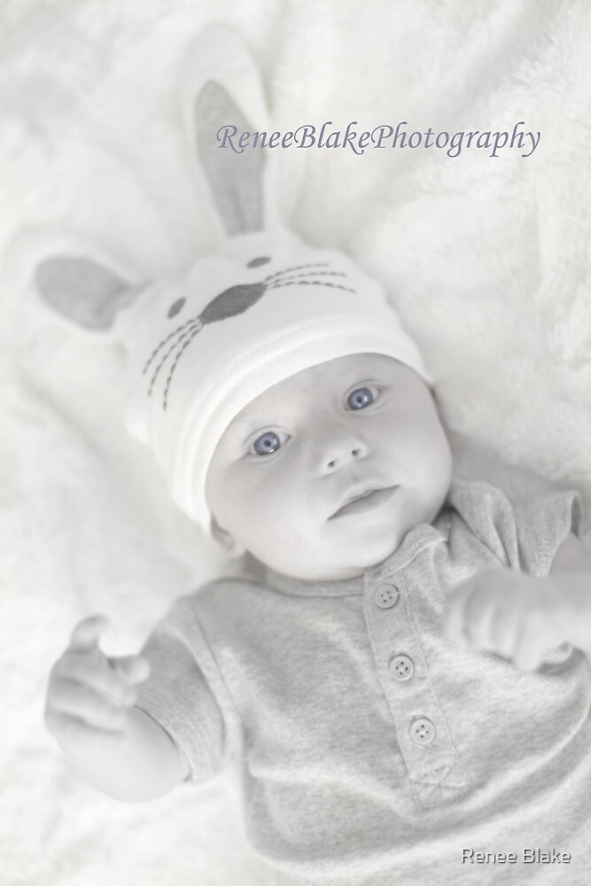 Blue Eyed Easter Bunny ~ by Renee Blake