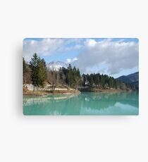 Lago di Barcis Canvas Print