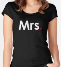 Couple - Mrs. Heart (Dark Edition) Women's Fitted Scoop T-Shirt