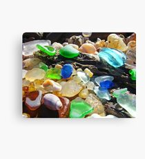 Seaglass Art Prints Coasta Beach Sea Glass Canvas Print