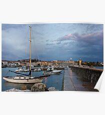 Desenzano del Garda view toward marina and city Poster