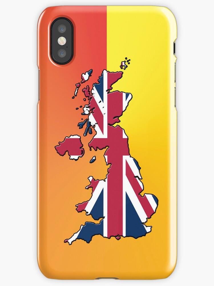 Smartphone Case - Cool Britannia - Orange Yellow Background by mpodger