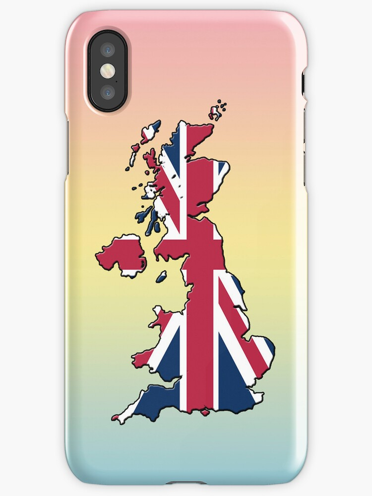 Smartphone Case - Cool Britannia - Blue Yellow Pink Background by mpodger