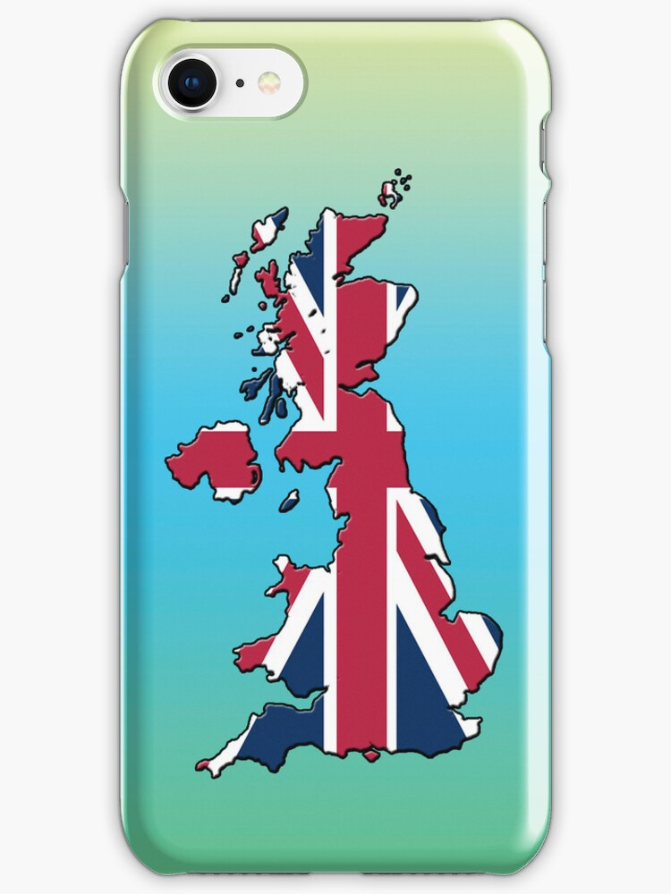 Smartphone Case - Cool Britannia - Green Blue Yellow Background by Mark Podger