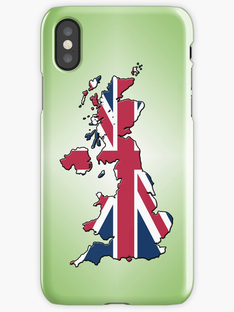 Smartphone Case - Cool Britannia - Lime Green Diamond Background by Mark Podger