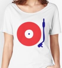 Red White Blue Turntable Women's Relaxed Fit T-Shirt