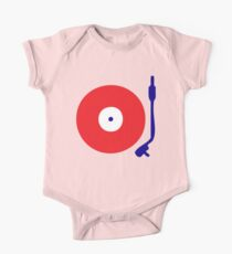 Red White Blue Turntable One Piece - Short Sleeve