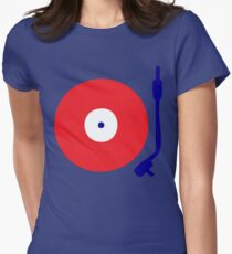 Red White Blue Turntable Womens Fitted T-Shirt