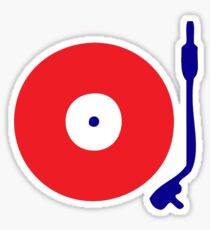 Red White Blue Turntable Sticker