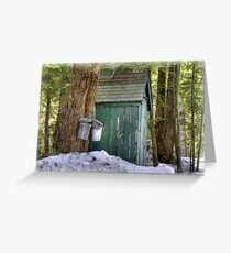 Two Taps and an Outhouse Greeting Card