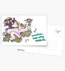 Somewhere... Over-eating Rainbows Postcards