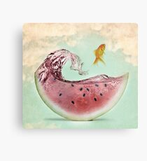 Watermelon goldfish 02 Metal Print