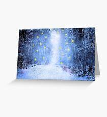 Bright Starry Night Greeting Card