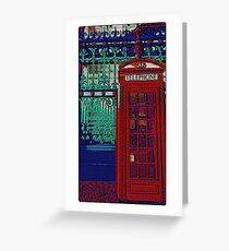 Pop art phone box Greeting Card