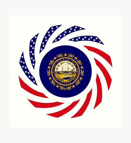 New Hampshire Murican Patriot Flag Series Art Print