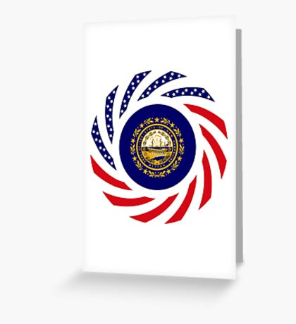 New Hampshire Murican Patriot Flag Series Greeting Card