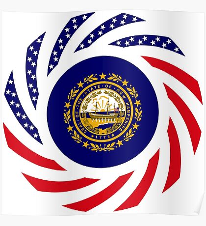 New Hampshire Murican Patriot Flag Series Poster