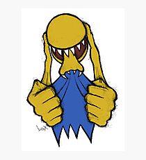 Alien Pac Man Photographic Print