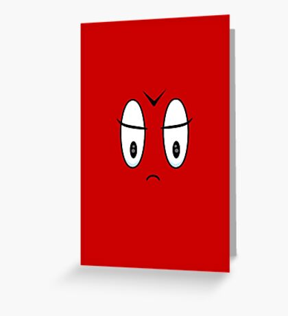 Angry Expression VRS2 Greeting Card