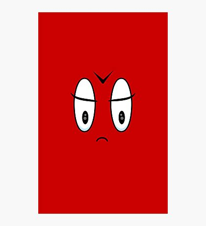 Angry Expression VRS2 Photographic Print