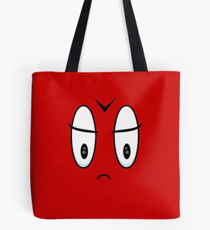 Angry Expression VRS2 Tote Bag