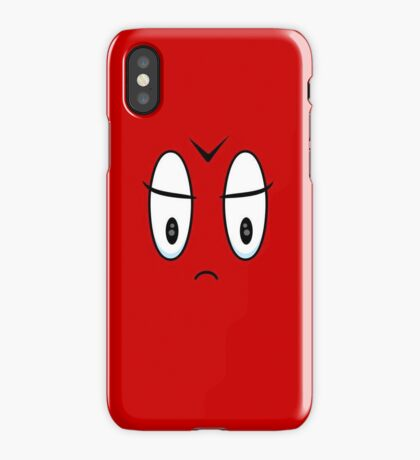 Angry Expression VRS2 iPhone Case