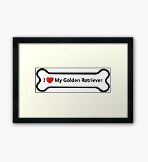 I Love My Golden Retriever Framed Print